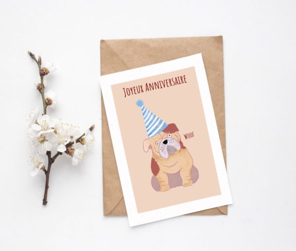 carte anniversaire chien