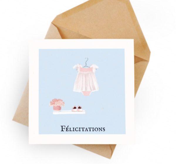 carte félicitations bébé