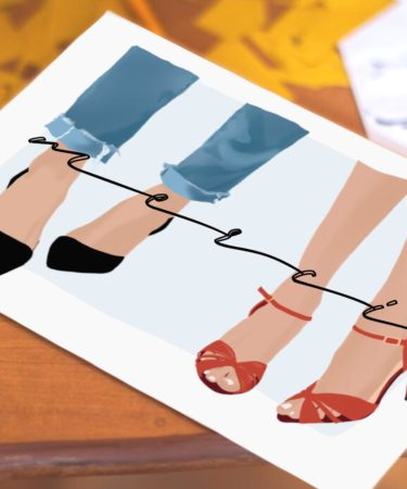 carte merci mariage chaussure