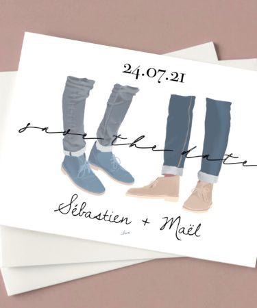 save the date mariage chaussure