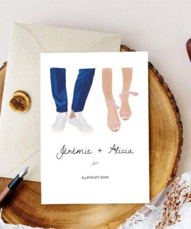 faire-part mariage chaussure