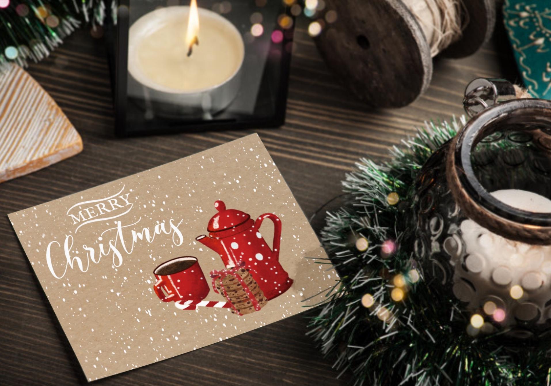 Carte de Noël - Ophélie FunnyFace - La minute déco
