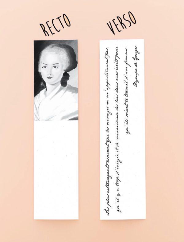 marque page féministe Olympe de Gouges