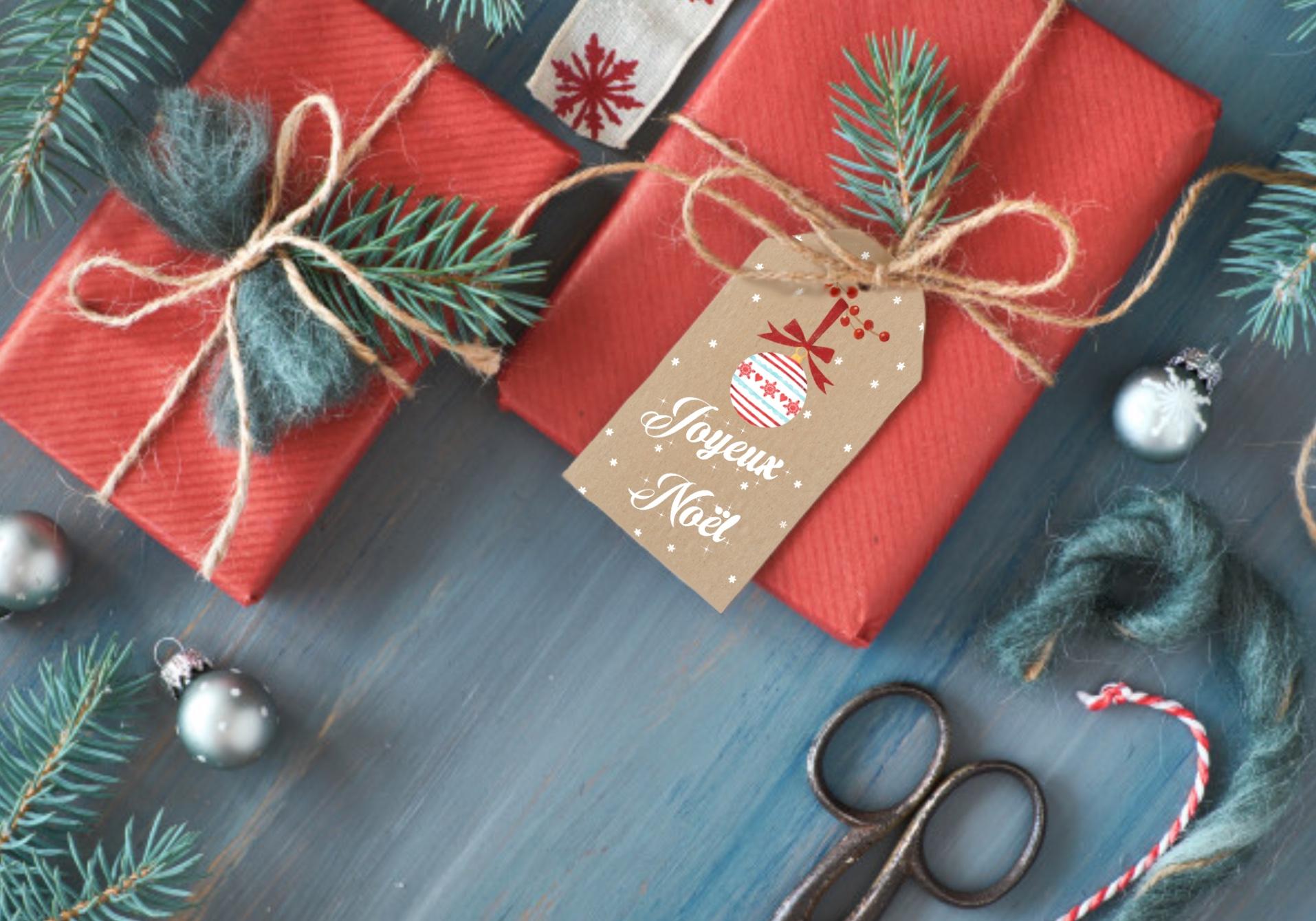 Etiquettes pour cadeaux de Noël - Ophélie FunnyFace - La minute déco