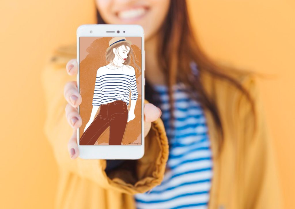 freebie smartphone marinière